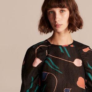 🌼 NWT Rebecca Taylor silk + linen blouse